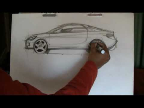 How To Draw Cars Sports Car Sketch Youtube