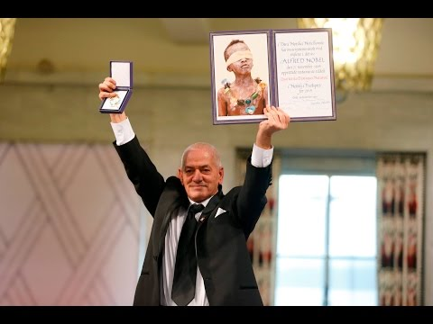 Tunisian National Dialogue Quartet receive Nobel Peace Prize - full ceremony