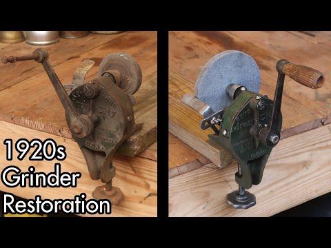 1920s Keystone Iron City Hand Crank Grinder Restoration
