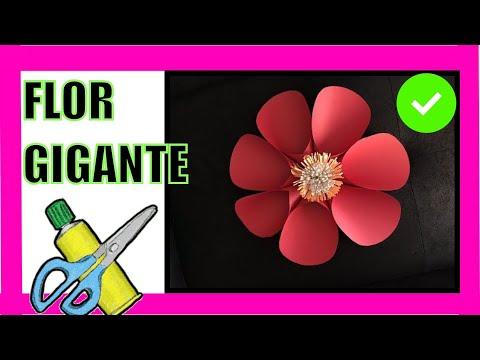 Flor Gigante 39 Hecha En Papel Para Decorar Pared O Fiestas Big Flower