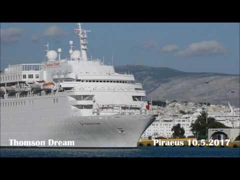 THOMSON DREAM departure from Piraeus Port