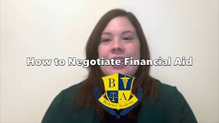 Negotiating Financial Aid