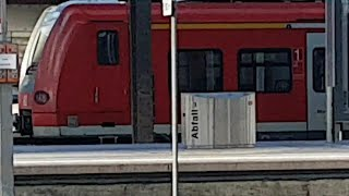 Abfahrt ET 425 in Karlsruhe Hauptbahnhof