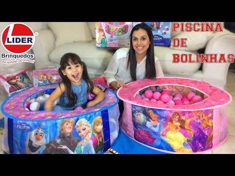 Lider Brinquedos bolinhas Frozen Princesas Disney
