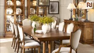 Bernhardt Bon Maison Double Pedestal Dining Table 328-241 Almond