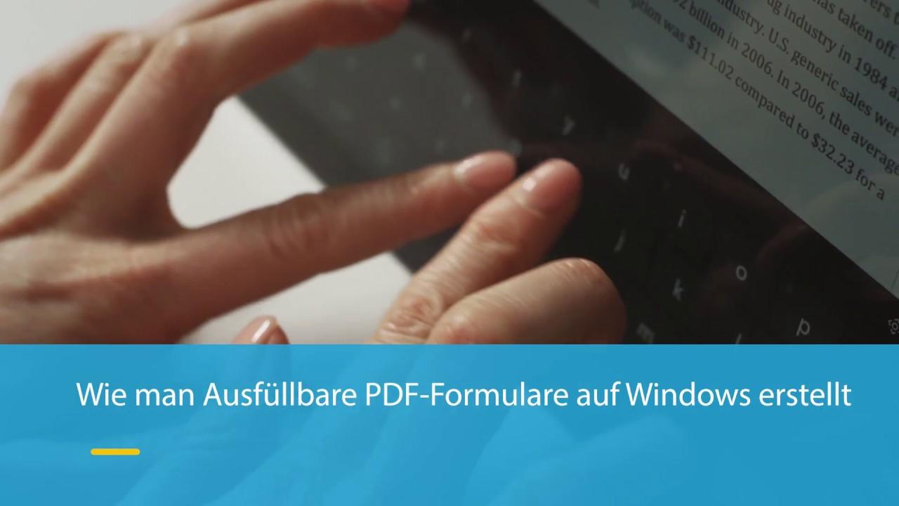 Wie Sie ausfüllbare PDF-Formulare unter Windows erstellen