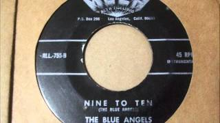 """THE BLUE ANGELS  """"NINE TO TEN"""" / """"PLAYAS DE ACAPULCO"""" GARAGE/ROCK EN ESPAÑOL"""
