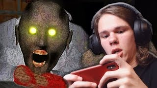 BEATING THE HARDEST MODE IN GRANNY | Granny (hard dark mode) Gameplay Part 3 (Iphone horror game!)