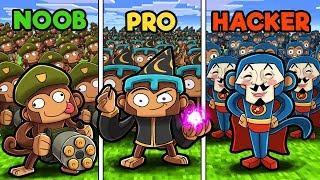 Bloons Tower Defense! (NOOB vs PRO vs HACKER)