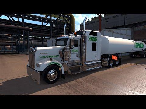 American Truck Simulator Praxair delivers Hydrogen to Chevron