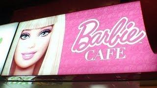 詳細は→http://www.taiwanlongstay.com/article/365041461.html バービーカフェ@台北~Barbie Cafe ピンク一色の世界【動画】