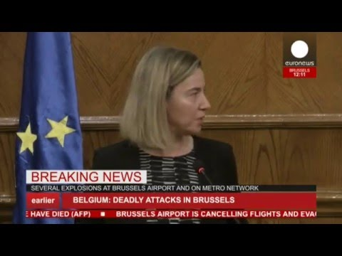LIVE: Federica Mogherini breaks down during speech on Brussels ...