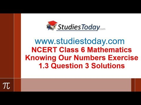 NCERT Class 6 Maths Knowing Our Numbers Exercise 1 3 Question 3 Solutions