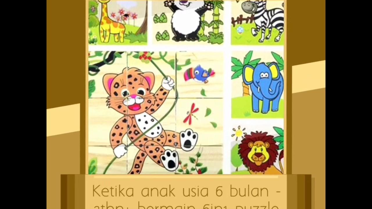 Jual Puzzle Kayu 6 In 1 Seri Binatang 1mainan Kayu Murahpuzzle 3d