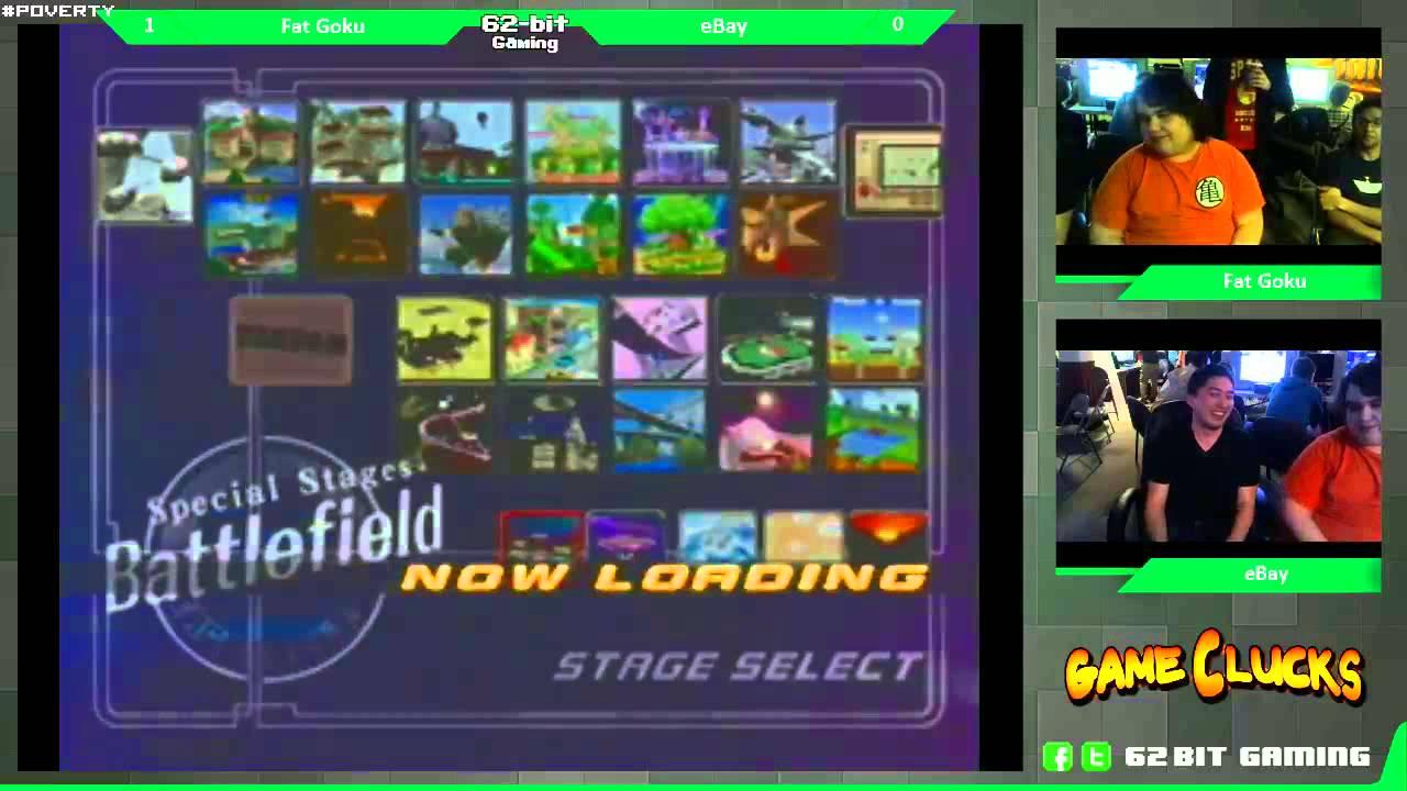 Ssbm 1v1 Fat Goku Fox Vs Ebay Captain Falcon January Gameclucks