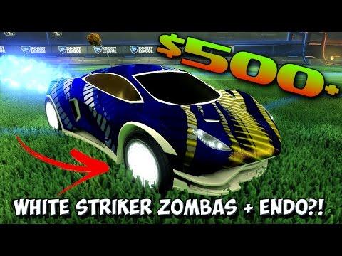 Rocket League's MOST EXPENSIVE CAR! | WHITE STRIKER ZOMBAS & WHITE STRIKER ENDO?!