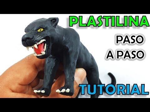 ✅ COMO HACER UNA PANTERA NEGRA DE PLASTILINA PASO A PASO ✅ MI MUNDO DE PLASTILINA - MY CLAY WORLD