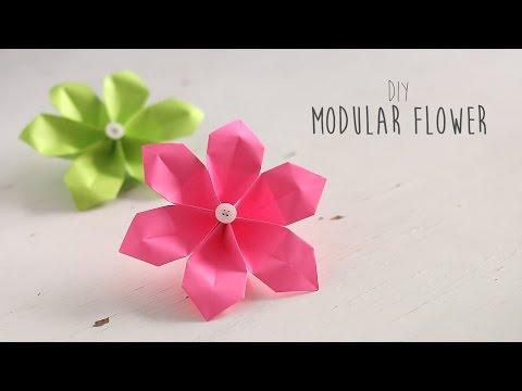Modular 6-Petal Paper Flower