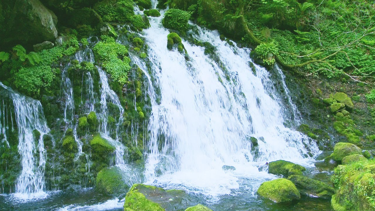 Waterfall Sounds.Nature Sounds.relaxing.calming.sleeping ...