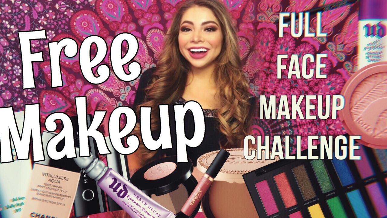 Full Face Using Only FREE MAKEUP