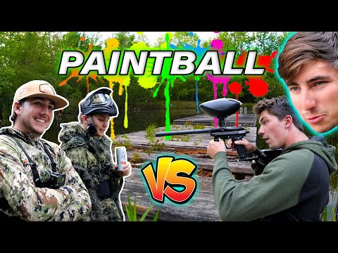 2v2 BACKYARD PaintBall CHALLENGE - (Capture The CLAW)