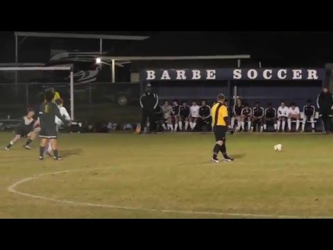 Jacob Judice, Acadiana High School Boys Soccer Game 1-19-16 @ Barbe