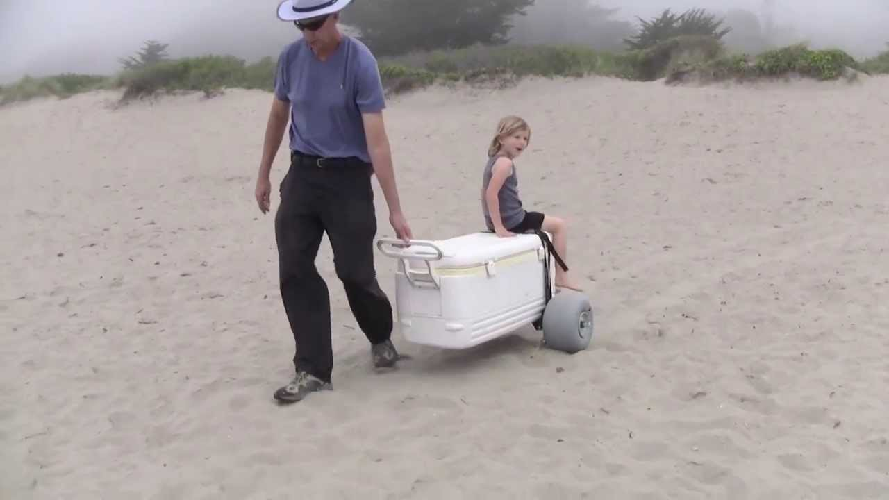 Wheel Axle Kit Transforms A Cooler To A Kid Carrier Youtube