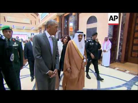 Obama Meets Saudi King Salman at Start of Visit