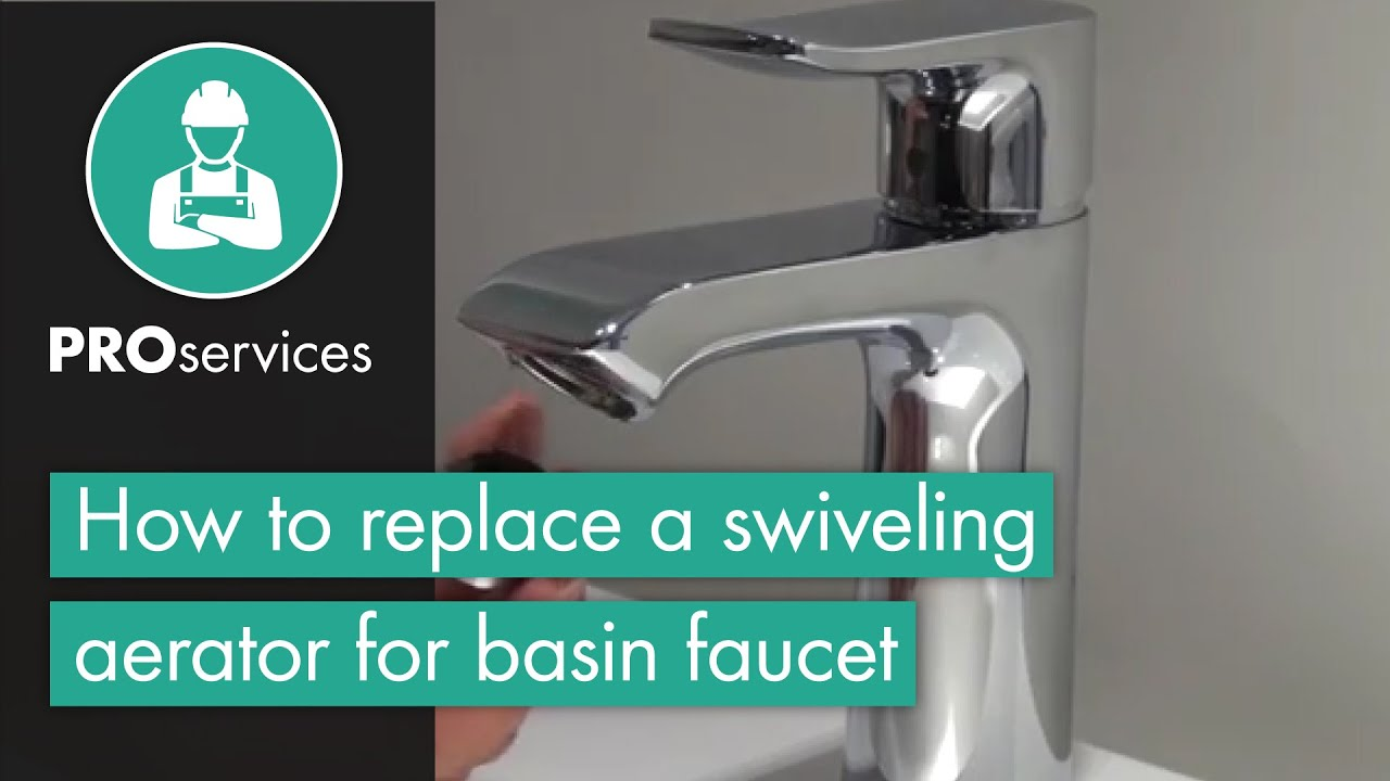 how to replace a swiveling aerator for basin faucet