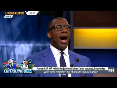 Skip and Shannon React to Kelvin Benjamin DESTROYS Cam Newton's Accuracy! Undisputed