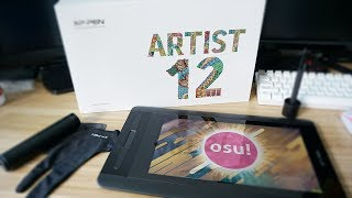 Drawing/osu! on a Graphics tablet (Artist 12 review)