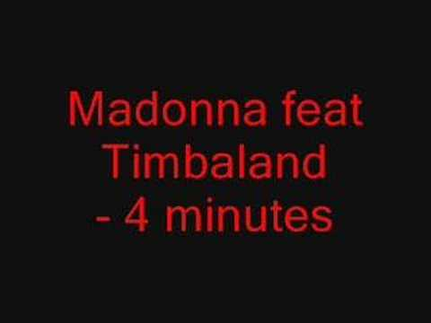 Madonna feat Timbaland -4 minutes