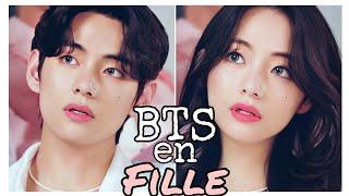 BTS en Fille [Face App]🤗 screenshot 2