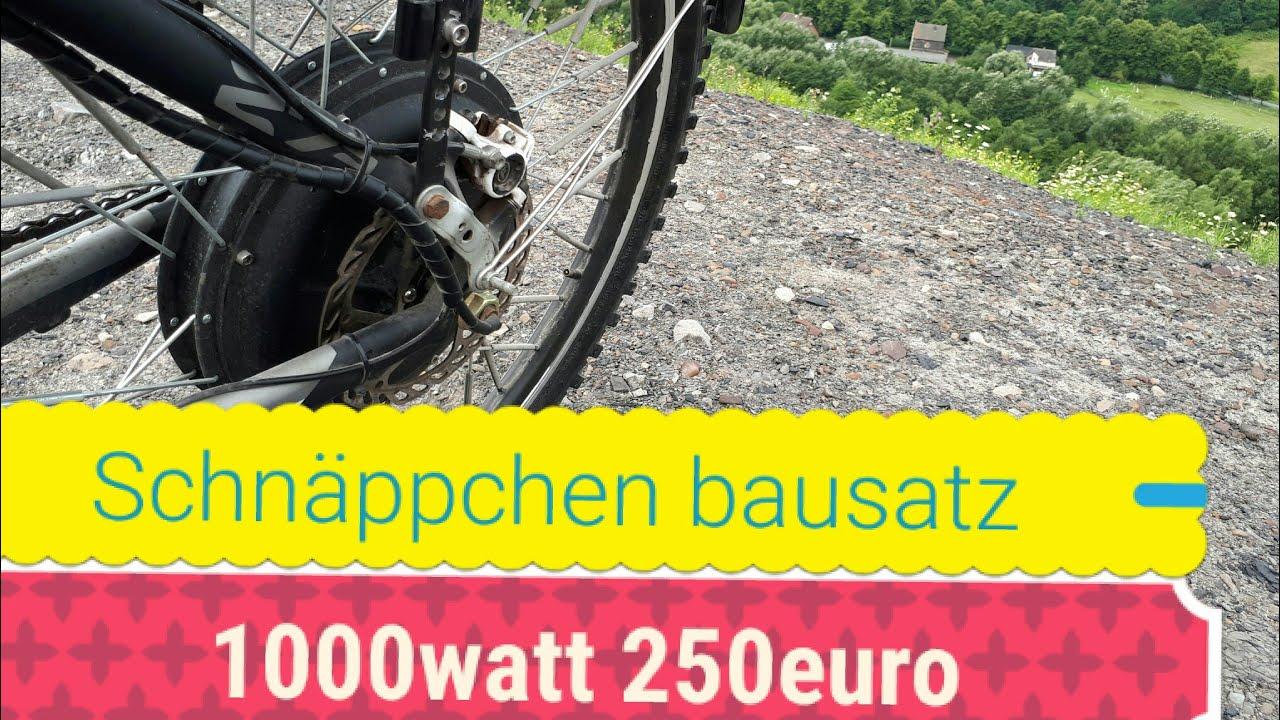 neu e bike 1000watt schn ppchen bausatz f r 250 euro. Black Bedroom Furniture Sets. Home Design Ideas