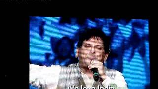 Anil Kant singing Pray for India Live @ Franklin Graham festival Meetings Hyderabad:}