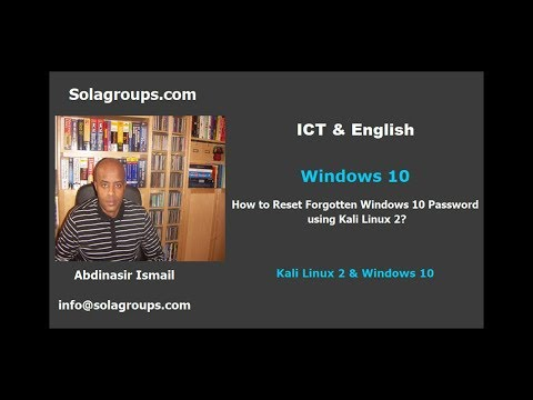 How To Reset Forgotten Windows 10 Password Using Kali Linux 2?