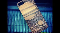 iPhone 5 Wood Case Pyrography