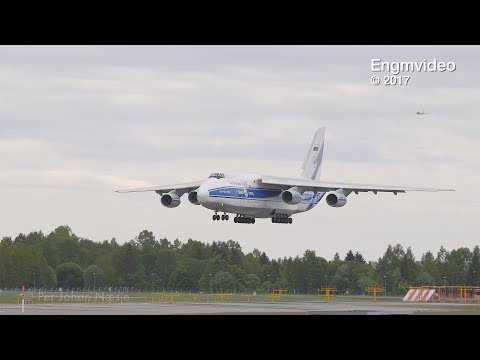 Antonov An-124 arrival and departure Oslo Airport