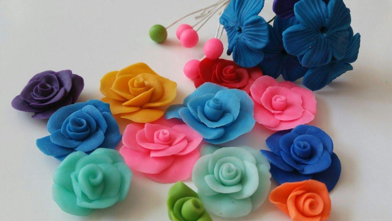 Como Hacer Flores De Porcelana Fria Migajon