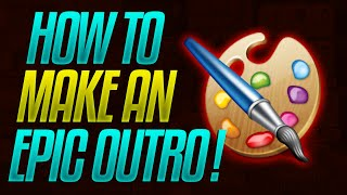 How To Make An Outro In Photoshop 2016 (Make An Epic Photoshop Outro Tutorial)