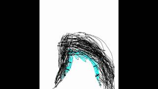 how to draw a wig w a turquoise coontail fringe