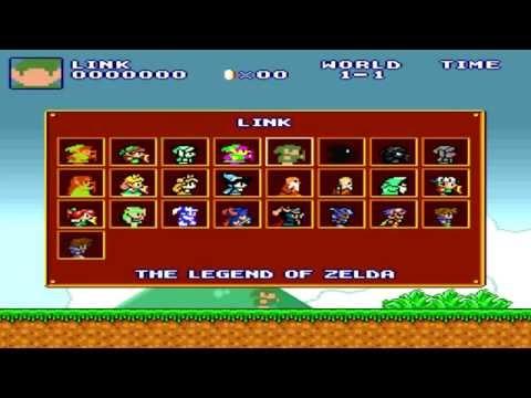 Super Mario Crossover 3: Los Personajes De Nintendo + Link Del Juego