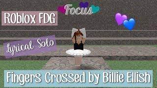 Roblox FDG - Lyrical Solo - Fingers Crossed by Billie Eilish | Bianca! ♡