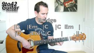 How to play The Cure Lady Gaga Chords Guitar lesson