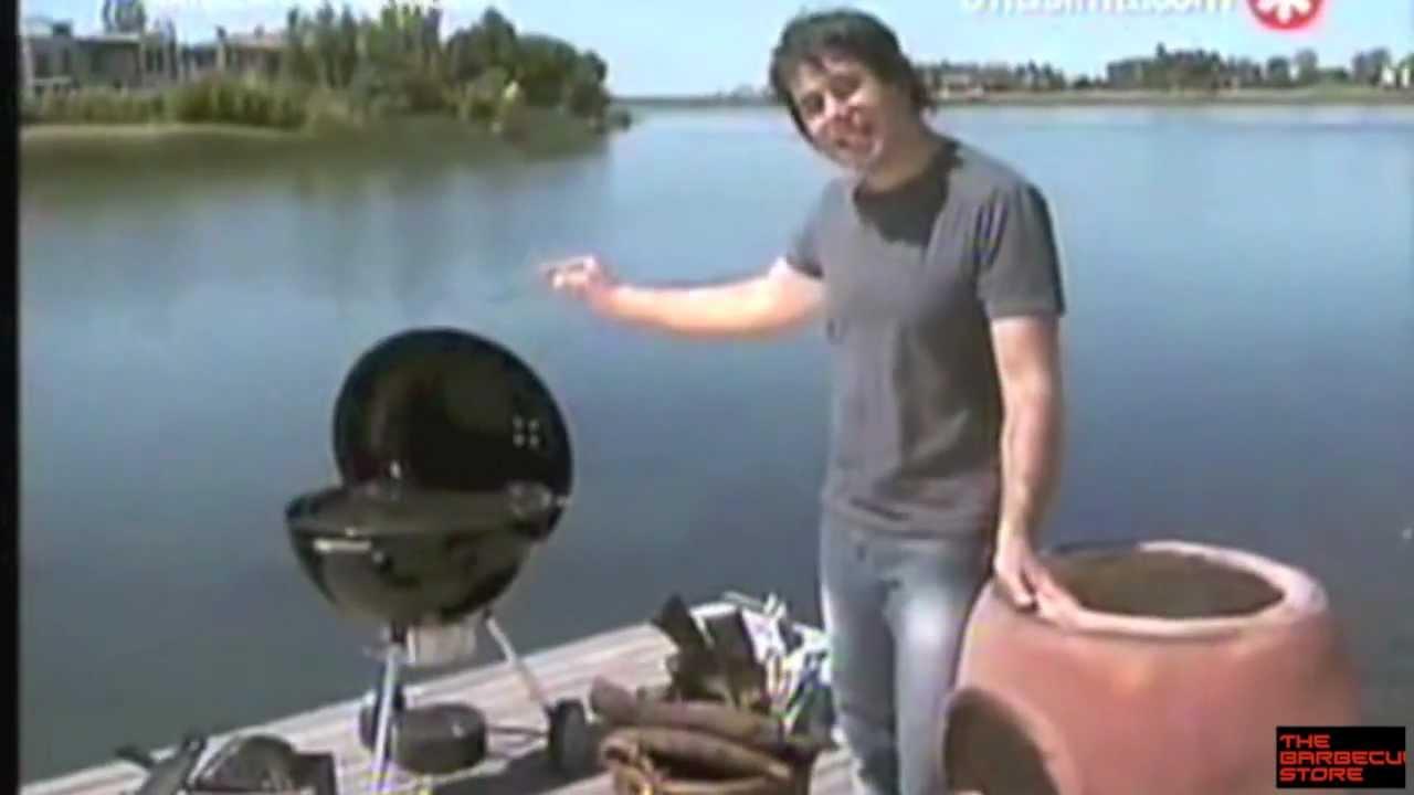 Barbacoa de carb n weber cocinando youtube for Barbacoa weber carbon
