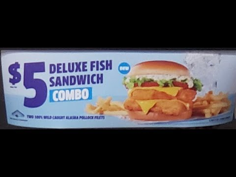 Stash Review's Jack In The Box Deluxe Fish Sandwich