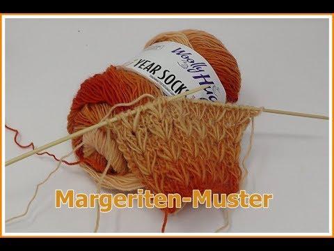Margeriten - Muster EINFACH Stricken / in Reihen und Runden / mit ...