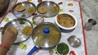 Sunday Lunch Routine || Litti chokha recipe || लिट्टी चोखा की आसान रेसीपी || Fried Litti recipe 2018