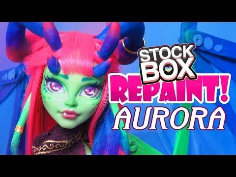 STOCK BOX Repaint! Aurora Dragon Custom Monster High Venus Doll