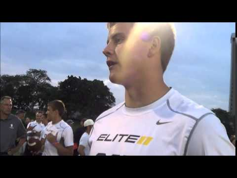 Joey Burrow Elite 11 Interview - June 6th, 2014 - YouTube